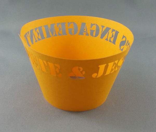 Laser cut paper cup sample