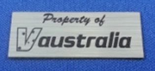 name tag laser engraved for used in the electrical industry