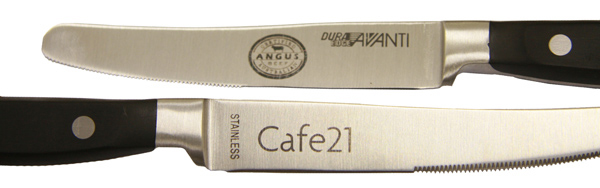 knifes laser marked for the purpose of identification