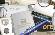 Laser engraved promotional goods, pens and key chains etc
